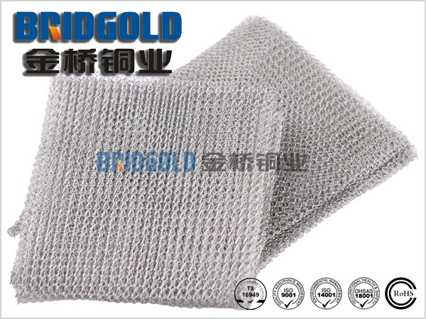 Low price tinned copper mesh, knitted copper wire mesh