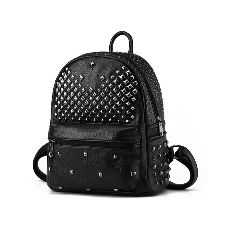 Buy Kids School Bags For Girls Backpack New Arrival Rock Rivet Pu Leather  Women Backpack Fashion Soft Leather School Backpack Women in Cheap Price on  ... 2594ff331ea76