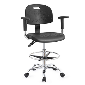 Adjustable/swivel ESD laboratory chair with Anti Static PU Leather and Conductive Chain