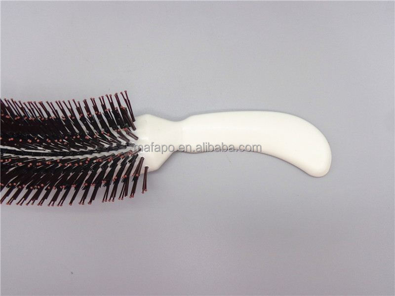 Salon Plastic silver hair brush