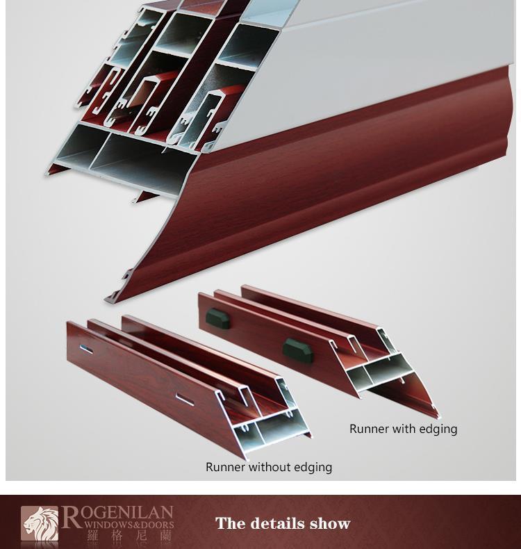 ROGENILAN 100# bathroom grill designs kitchen aluminium sliding window with  exhaust fan, View kitchen sliding window, ROGENILAN Product Details from