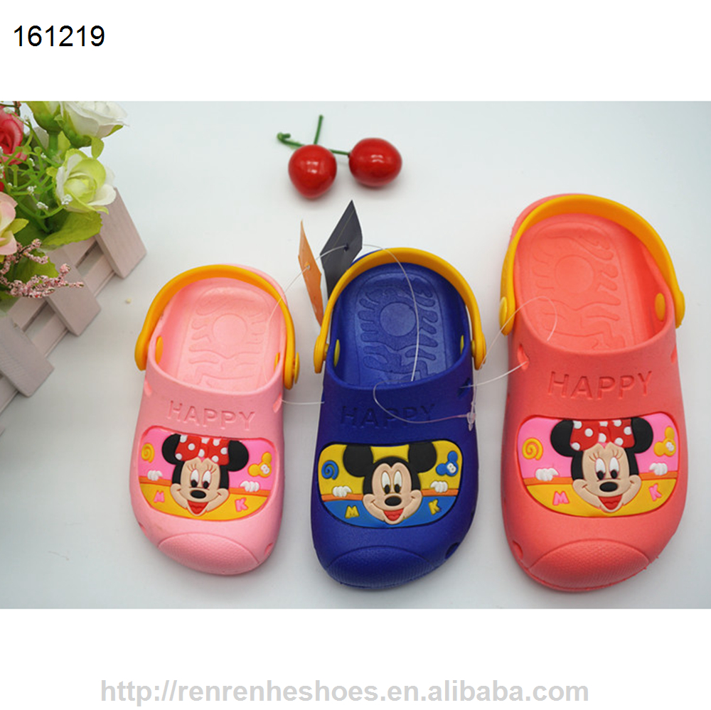 New design PVC cute cartoon clogs sandal for kids unsext outdoor or indoor shoes made in Wuchuan factory price 31467