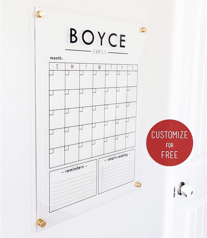 Get Quotations Custom Clear Acrylic Calendar