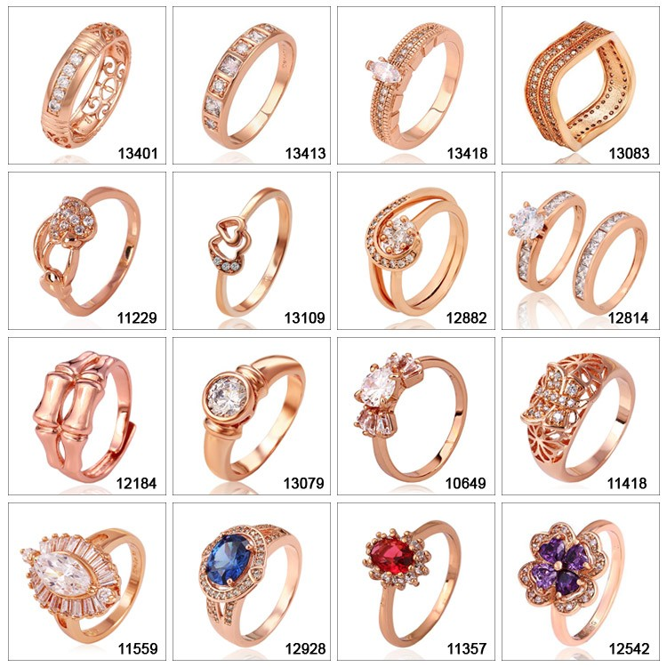 14043 single stone diamond wedding rings, popular rose gold design jewelry, simple gold ring designs for women