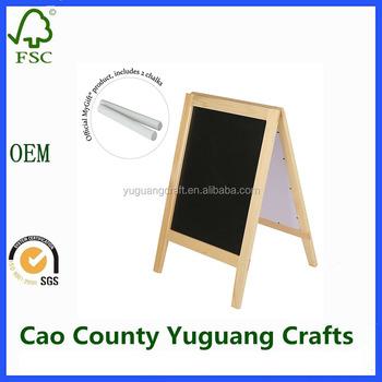 Natural Wood A-frame Chalkboard,Double-sided Sidewalk Sandwich Board ...