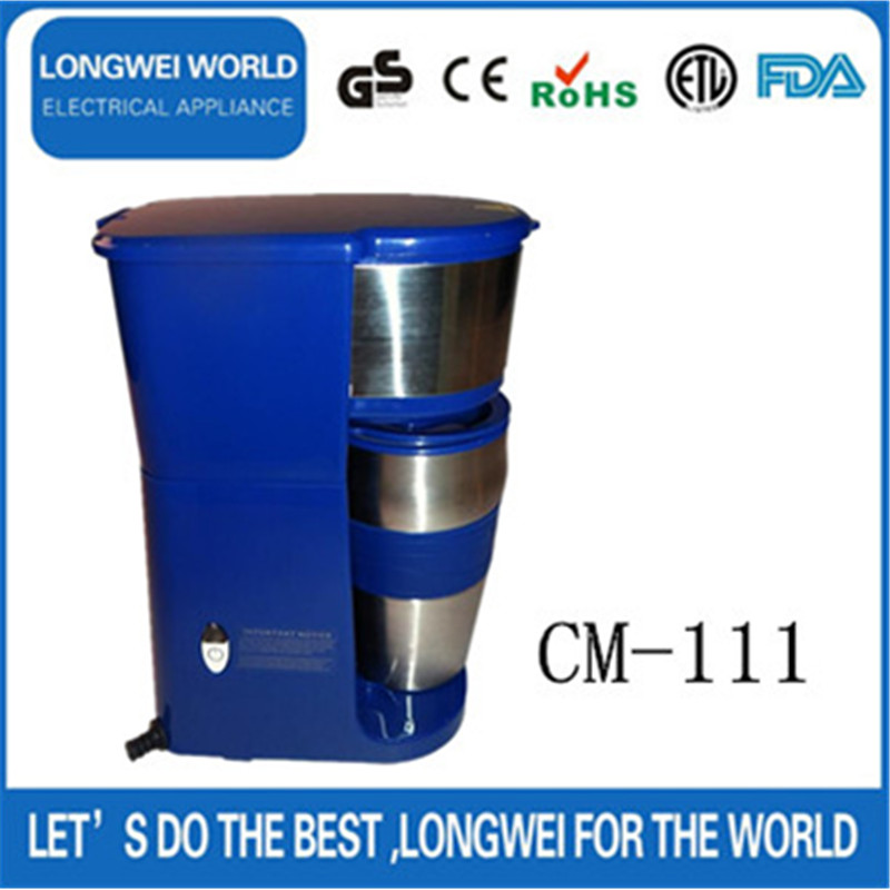2-in-1 Blue Coffee Machine Espresso capable of coffee pod and ground coffee