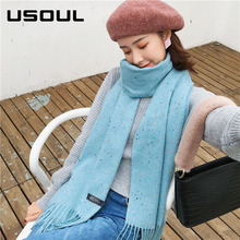 Autumn and Winter Women Korean Thicken Long Section Large Shawl Acrylic Pashmina Scarf