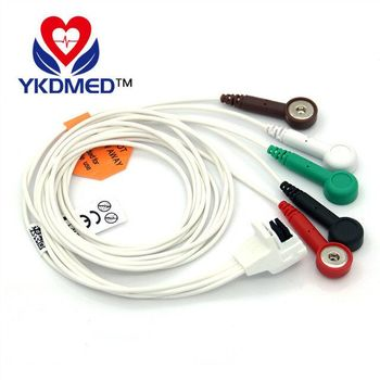 Compatible Mortara H3 channel machine holter 5 leads telemetry ECG cable