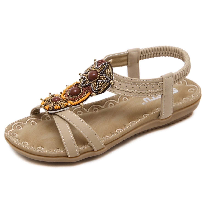 ae9877dda46cd2 Get Quotations · Fantastic-Journey-sandals Women Sandals Bohemia Summer  Shoes Beach Soft Flats Sandals Woman Casual