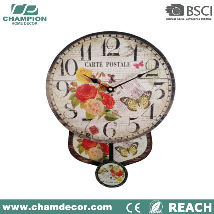 Mdf De Madera Decorativa Reloj De Pared Abatible,Antiguo Barato ...