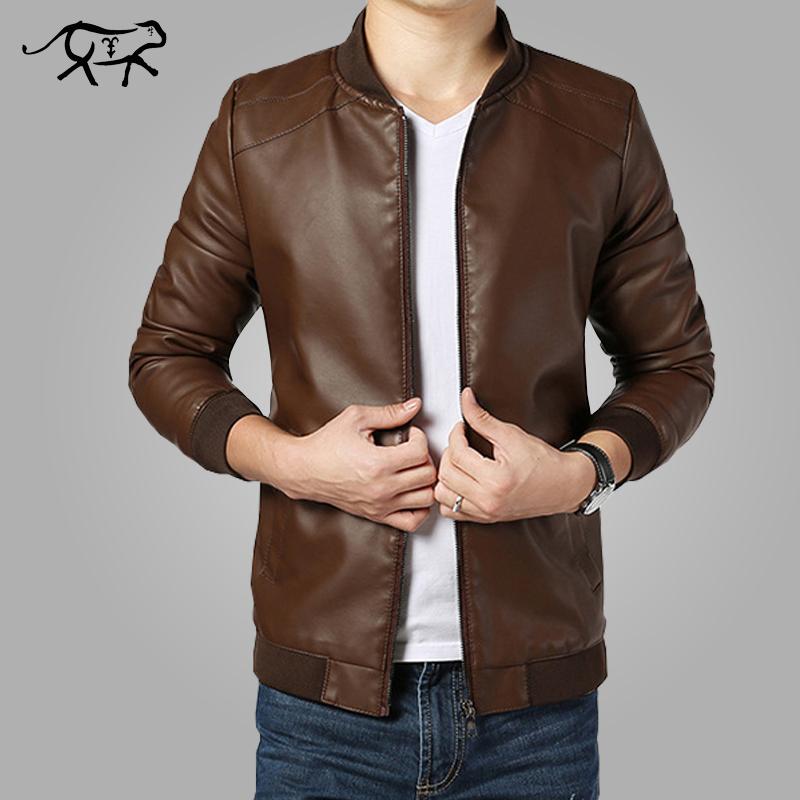 20a797f77c7d 2017 New Arrival Leather Jackets Men s jacket male Outwear Men s Coats  Spring   Autumn PU Jacket
