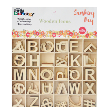 Scrapbooking Card Making Wall Alphabet Letter Wooden Deco Icons
