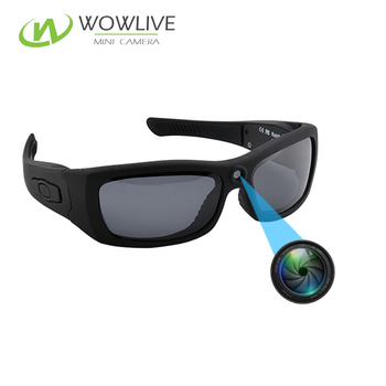 434156814a Hot Sale 5MP Multi-functional Battery Operate 1080P Full HD Security  Wearable Spy Glasses Hidden