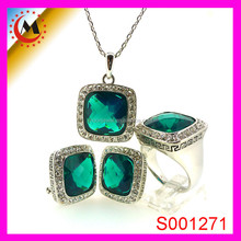 EABY CHINA HOT SELLING EMERALD JEWELRY SET FOR 2015, ITALIAN COSTUME JEWELRY