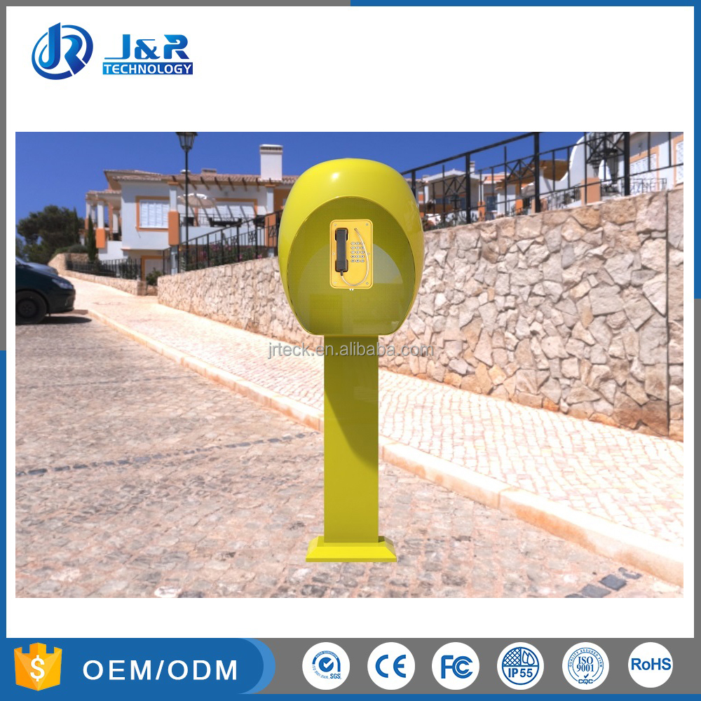 Vandal Resistant Public Phone Booths for Safe, Waterproof Acoustic Telephone Hoods
