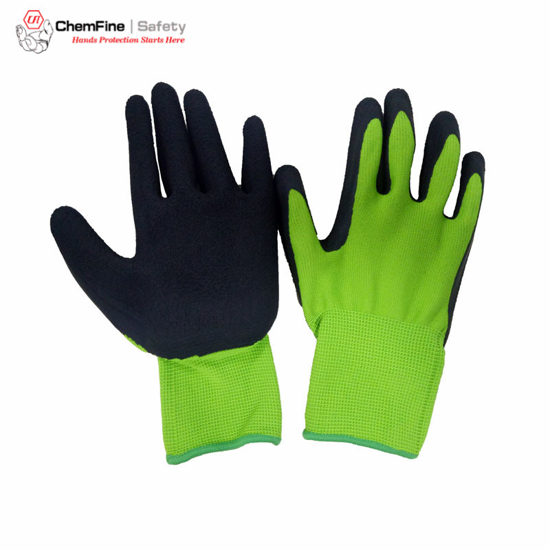 Safety Work Assembly Gloves 13g 15 Gauge Hi Vis Nylon