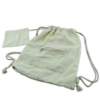 Natural canvas drawstring cinch bag for promotion