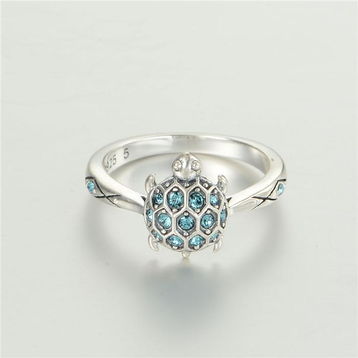 925 Sterling Silver Turtle Ring e5fEMQn