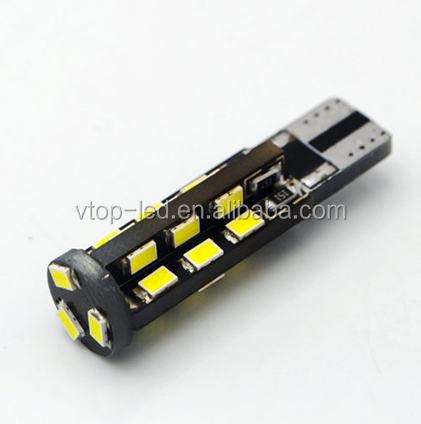 Canbus T10 1.8W car light 27pcs SMD3020 DC12V 93Lm 170 degree beam angle -35 to +55 centigrade working tempreture car using