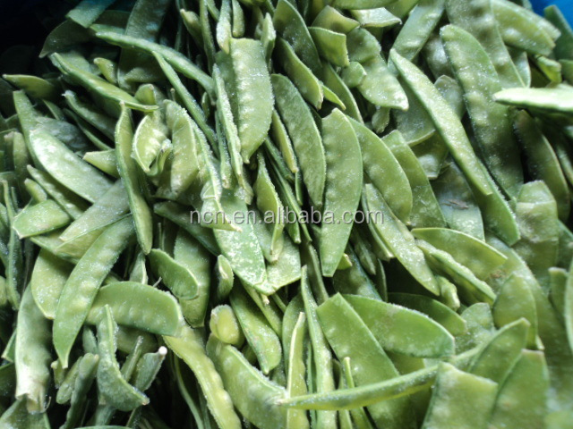 Fully Stringless Pea Pods IQF Frozen Snow Peas