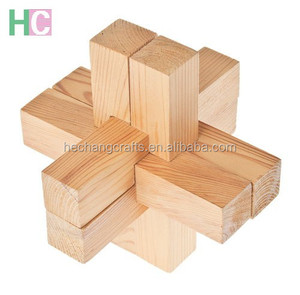unfinished 3D wooden puzzle game educational toy for kids
