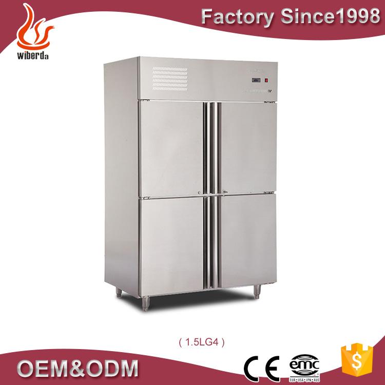 Wiberda 2 portes Vertical congélateur et réfrigérateur conteneur ...