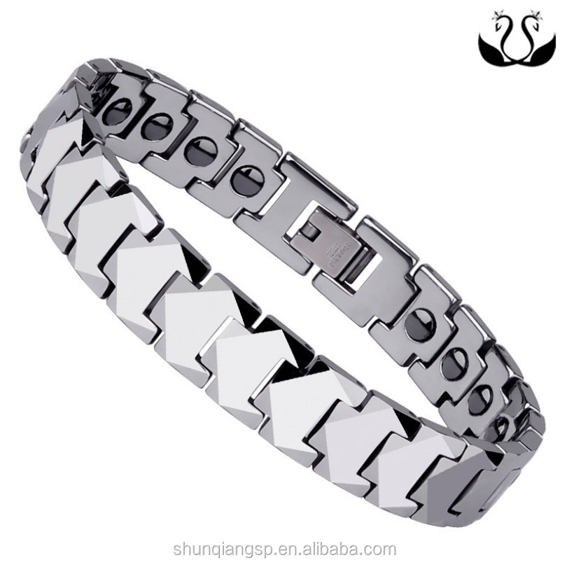Jewelry trade 316 stainless steel magnet magnetic energy heart-shaped Womens Bracelet