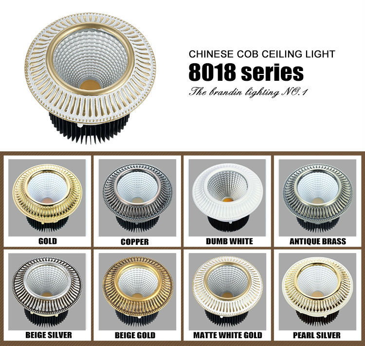round recessed 5w led ceiling spotlights