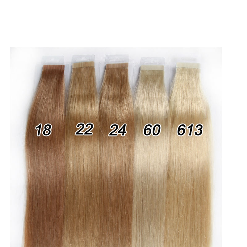 c8bb9b0852 Seamless Remy Tape Hair Extensions Real Brazilian Human Hair Skin Weft Tape  In