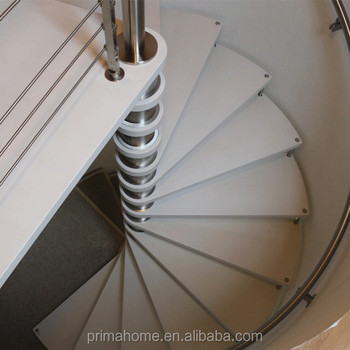 Prefabricated Low Cost Modern Spiral Staircase Design Wooden Spiral Stair  For Loft
