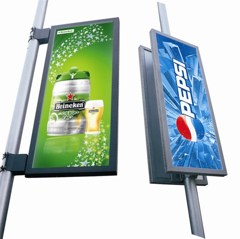 700 1700mm Street Pole Advertising Traffic Sign Board