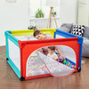 Mesh large play yard for babies portable baby playpen