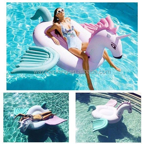 Large Inflatable candy pegasus pool float inflatable unicorn swimming raft toys pegesus water floating