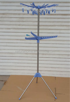 Stainless Steel Movable Clothes Drying Hanger Stand Rack