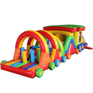 best popular inflatable sport run obstacle course games for adult paly