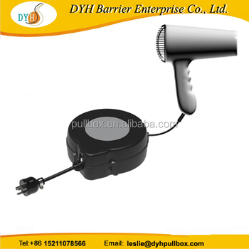 retractable cable reel for barber extension cord reel for hair dryer