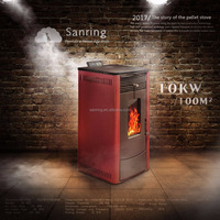 Good painted automatic feeding cheap wood pellet stove 10KW for sale