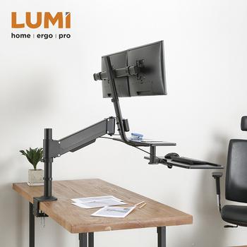 Laptop Monitor Mount Arm Desk Stand Desktop Holder Workstation Stand