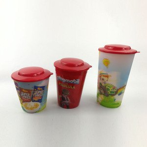 Sedex 4 Pillars Audit Manufacturer Custom CMYK Printed 3D Lenticular Hard PP Plastic Cup with lid