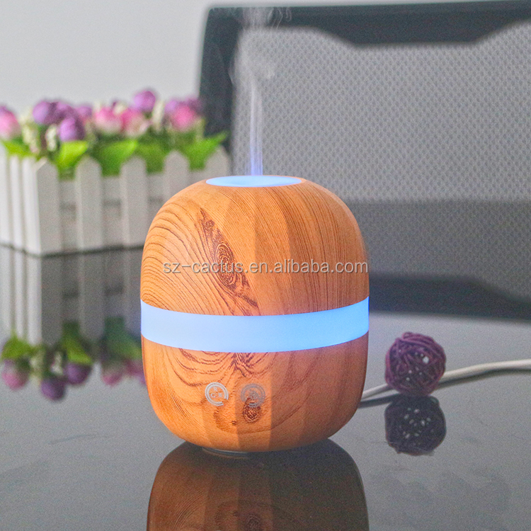 7 Color LED Light Bamboo Wood Diffuser For SPA