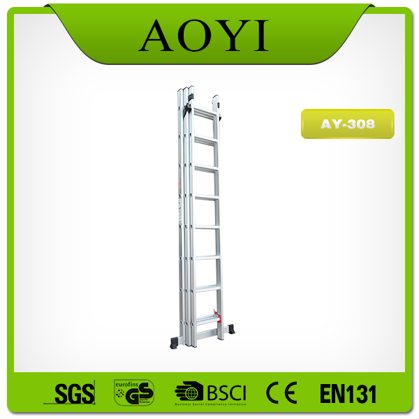 Alibaba china supplier good quality aluminum 24 step 3 section extension ladder