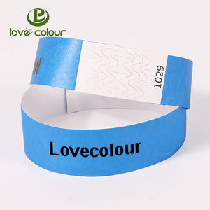 Custom cheap tyvek paper baby hospital ID wristbands