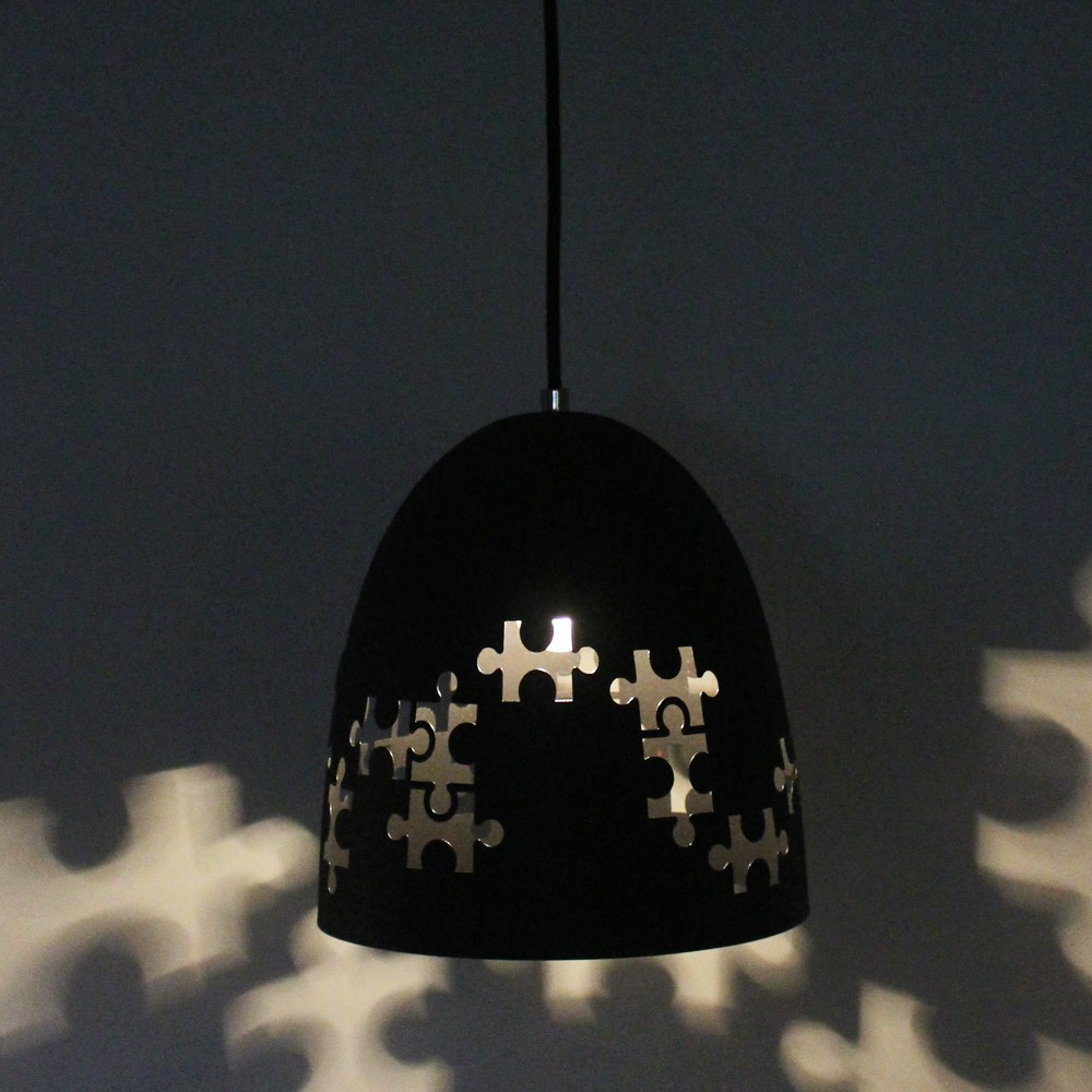 Sweden country lighting Puzzle hollow out indoor metal pendant lamp