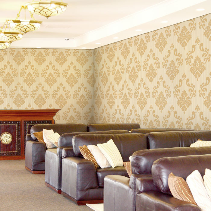 Waterproof Pvc Wallcovering Wallpaper Paste Wall Paper Classic ...