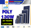 ALibaba top 10 Suppliers Cheap 130w poly Solar Panel Price Wholesale Competitive Price solar modules pv panel in Guam market