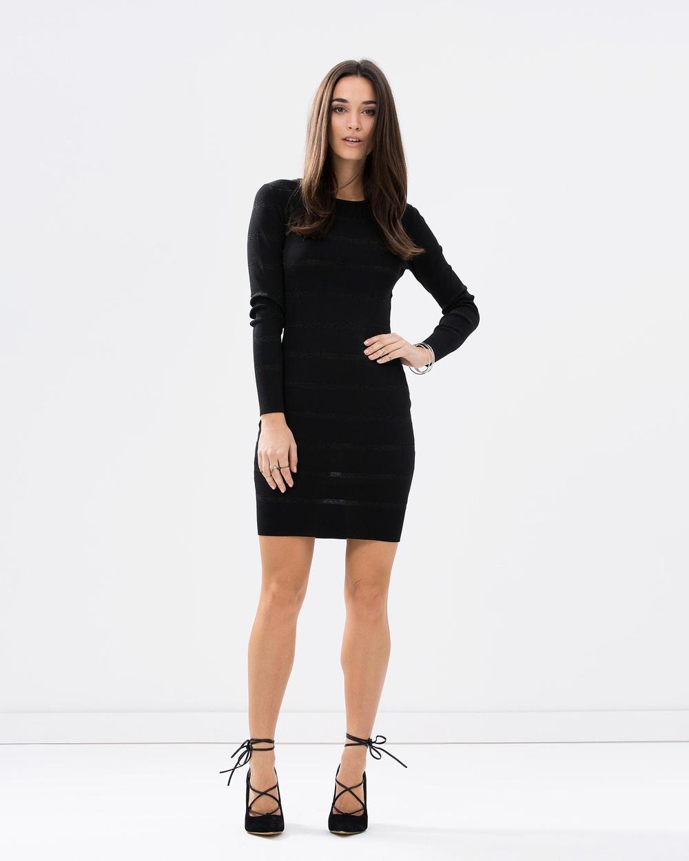 b0e82ae314 Long Sleeve Black Tight Sexy bodycon Knitted Dress for women / Women's Sexy  Bodycon Knitted Dress