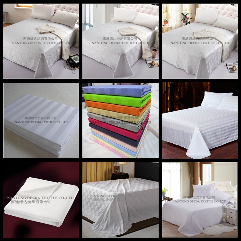 Factory Price Cotton Plain White Used Hotel Bed Sheets