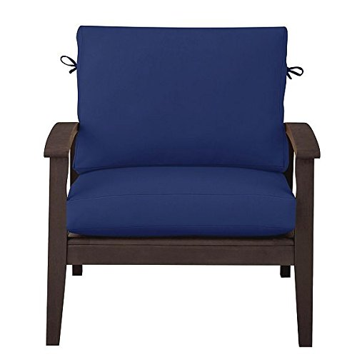 """Home Improvements Outdoor Patio Deep Seat Relaxed Chair Cushion Set Seasonal Replacement Cushions 17""""x24""""x4-1/2"""" back; 24""""x24""""x4-1/2"""" seat, 27 Prints/Colors (Nautical Blue)"""