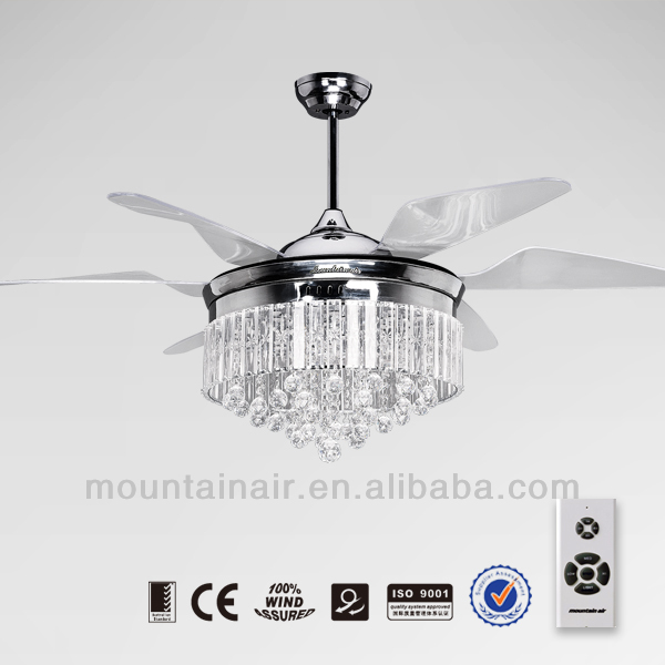 Mountainair Crystal Lamp Decorative Ceiling Fan With High Quality ...