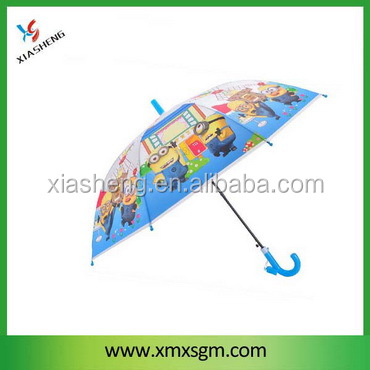 Cartoon Pvc/Poe Kids Umbrella with Plastic Whistle